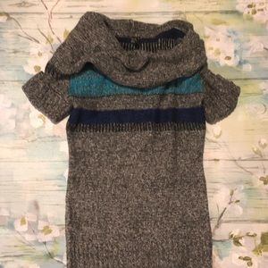 Cowlneck Takeout Sweater Dress